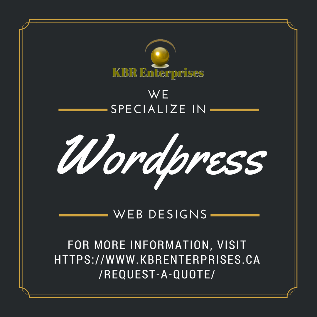 #KBREnterprises, specializing in #wordpress #webdesigns  http:// ow.ly/Ru4830jyC64  &nbsp;   #webdesigner #marketing #success #business #webdeveloper #development #programming #socialbusiness #management #webdesign #javascript #html #html5 #bootstrap #application #app #programming #wordpress<br>http://pic.twitter.com/R5d4oIWwbf