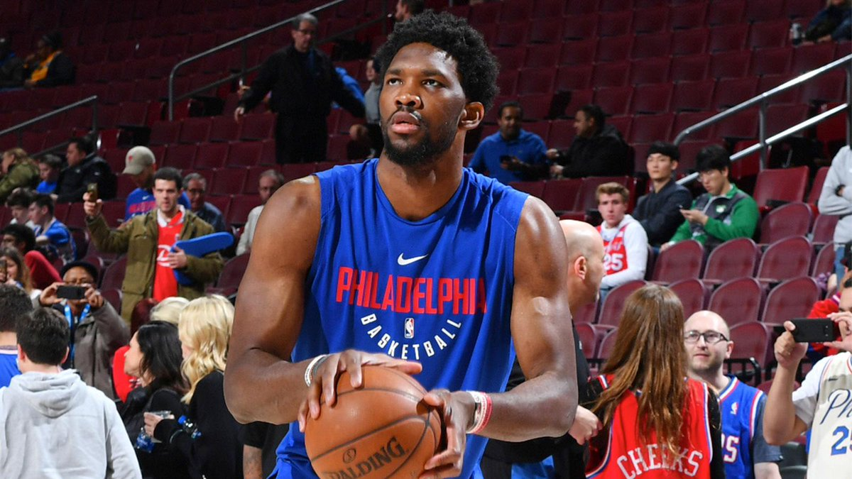 Joel Embiid has been upgraded to probable ahead of tonight's Game 3 against the Heat.