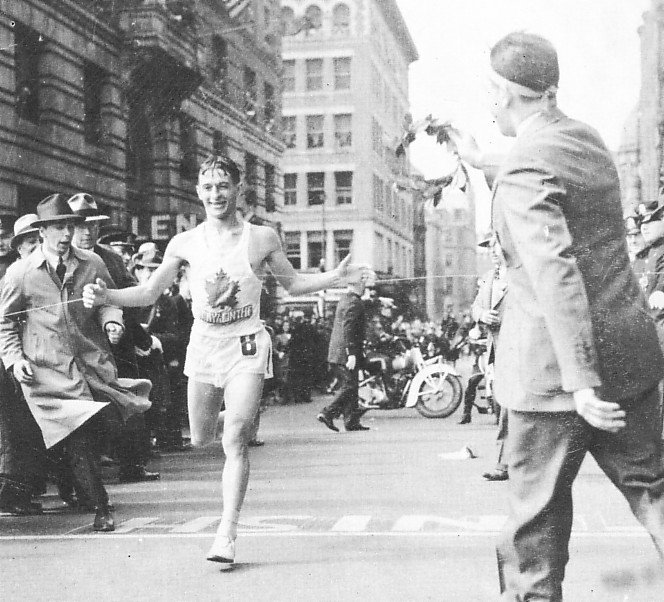 Running a marathon is a feat on its own, but winning (not to mention four times!) is an incredible achievement. Canadian super athlete Gérard Côté was first to the finish line at the #BostonMarathon on this day in 1940, 43, 44 and 48! #TBT