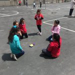 Image for the Tweet beginning: Big Buddies teach KinderFriends dance