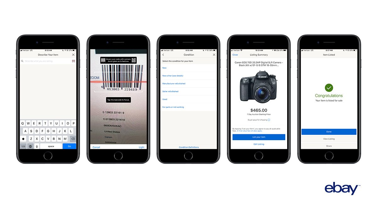 Create a new listing in under a minute by scanning a barcode or typing in a few words! See how this recent app update will help new & seasoned sellers alike have a more seamless listing experience. https://t.co/4M62CsBL2m