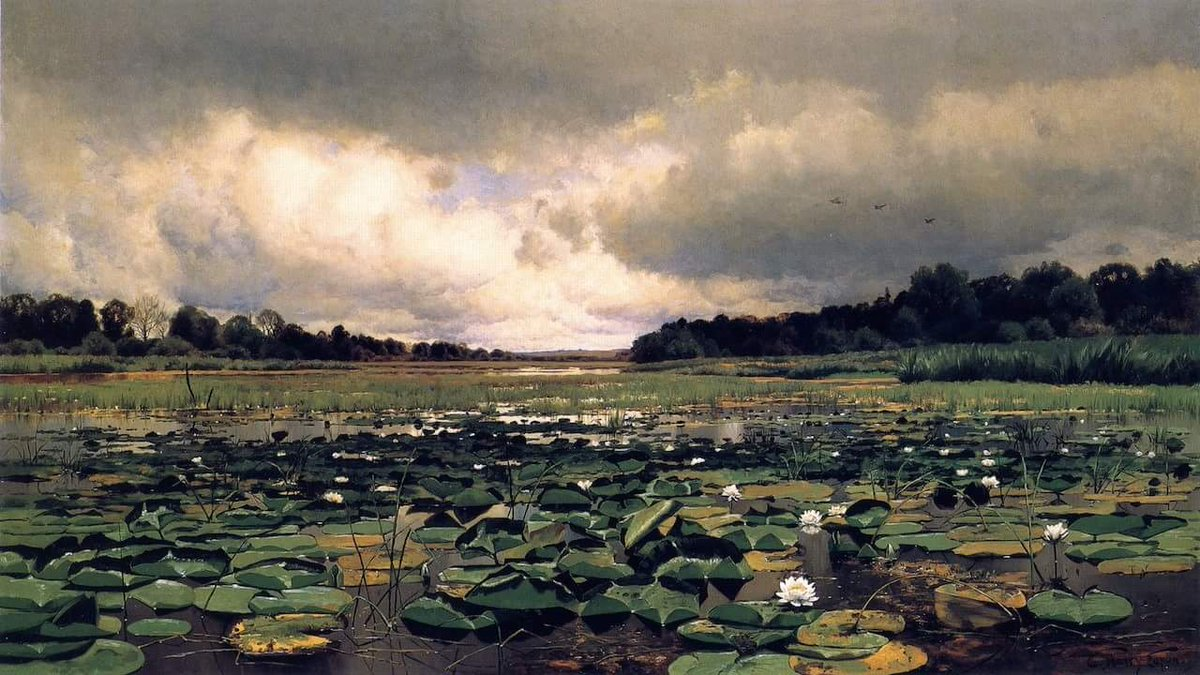 #HistoryofPainting  #Artist #Painter Charles Harry Eaton(1850 - 1901) was an American painter. Not to be confused withCharles Warren Eaton(1857-1937) American painter. #Artwork #Painting #Art The Lily Pond, ca. 1886 Detroit Institute of Arts @DIADetroit  https://www. dia.org/art/collection /object/lily-pond-43342 &nbsp; … <br>http://pic.twitter.com/z1O98XIbXN