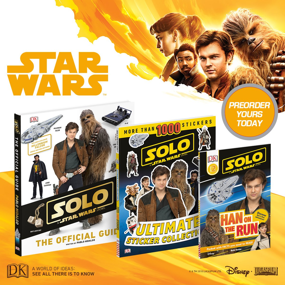 Don't be the last person in the galaxy to have your own copy of these #Solo: A @StarWars Story books. Preorder today! bit.ly/2HJ9YBz