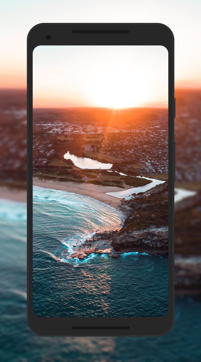 IDeviceArt On Twitter Aerial Sunset Wallpaper IPhone IPhoneX Android RT Tco Yxin3hOFB6