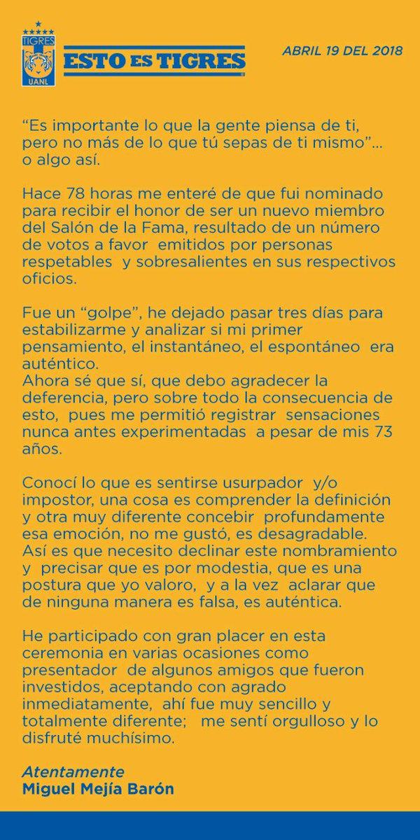 Club Tigres Oficial's photo on Miguel Mejía Barón
