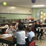 Image for the Tweet beginning: 4th graders exploring waves of