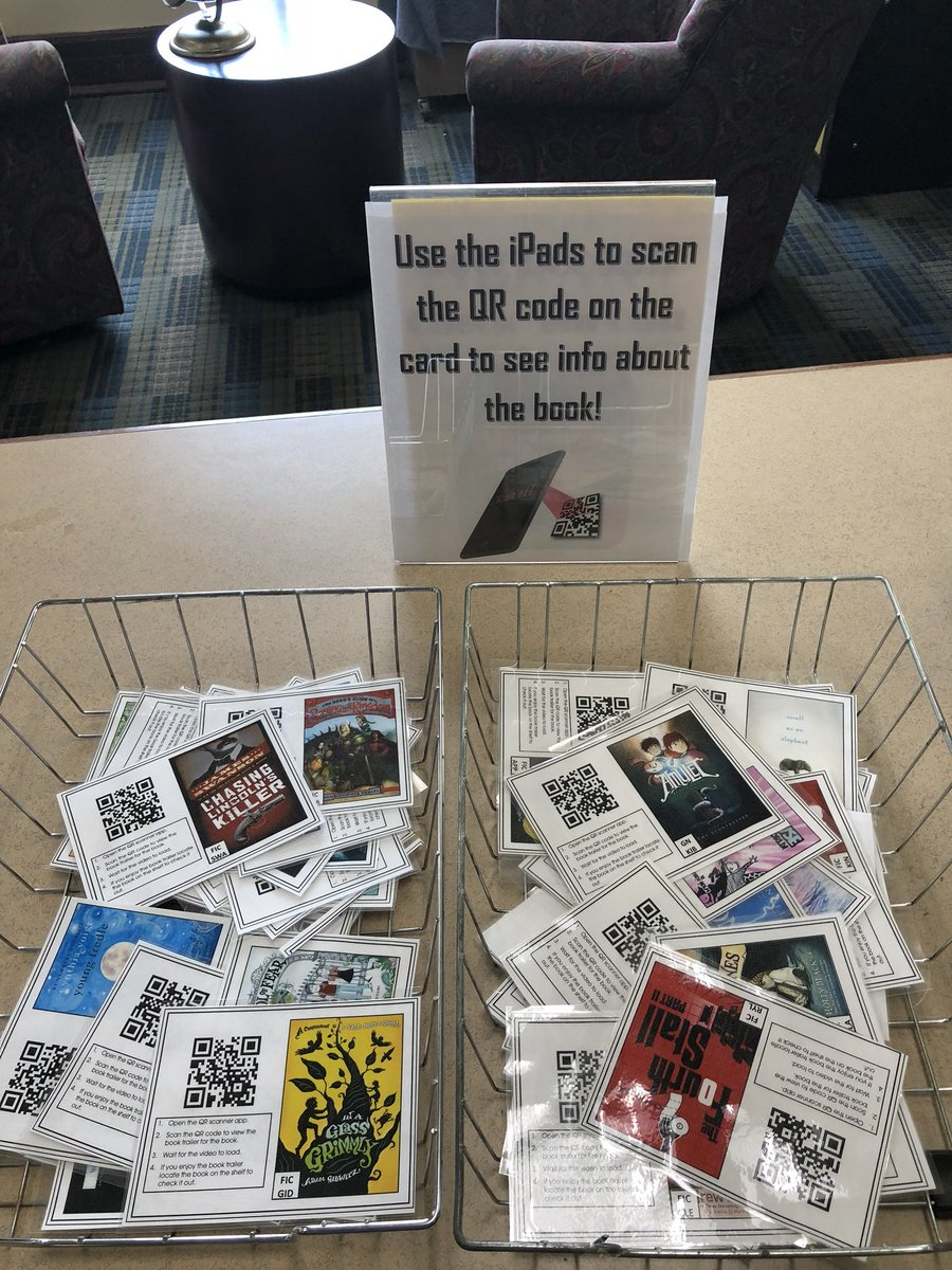 "Lucy Dixon on Twitter: ""QR scans book reviews & trailers #iPads  @MNPSLibraries @mslittrell21 @WestEndPTSO @westendmiddle… """