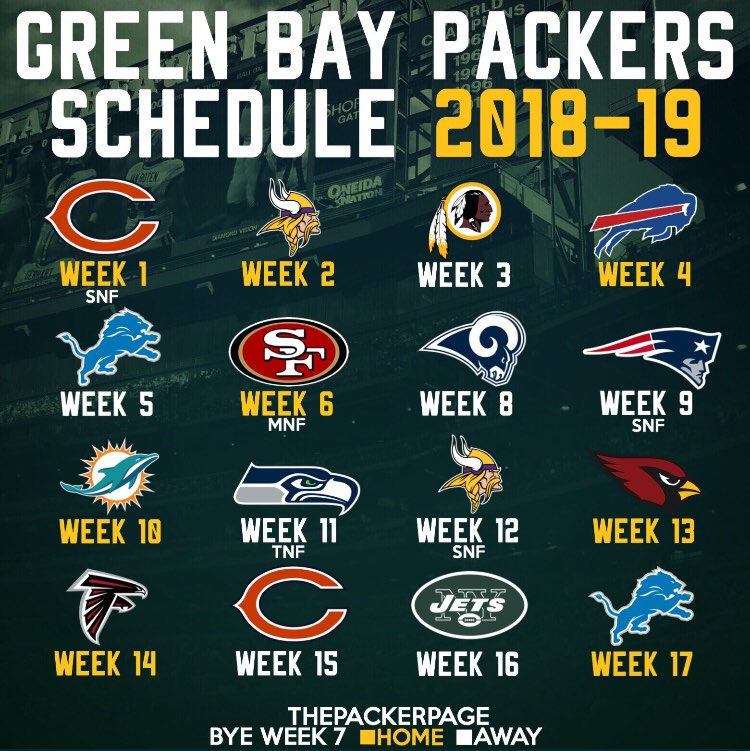 This is a picture of Remarkable Green Bay Packers Printable Schedule