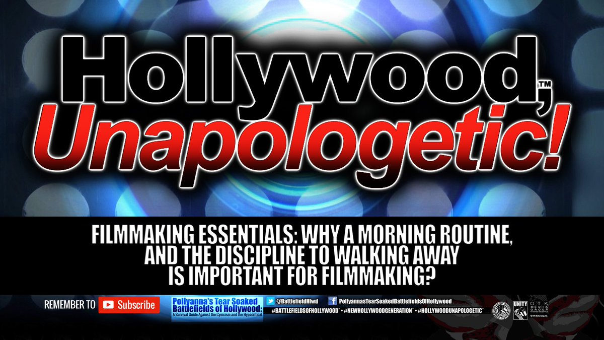#Filmmaking Essentials: Why a Morning Routine, and the Discipline to Walking Away is Important For Filmmaking?  https:// youtu.be/quxodOlTBWs  &nbsp;   Please watch and share #HollywoodUnapologetic #SupportIndieFilm #WomeninFilm #IndieFilm #Film #Diversity #Cinema <br>http://pic.twitter.com/EgKISbPQik
