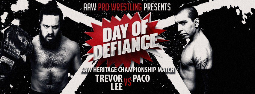 Heritage Championship Match! 5/5 in LaSalle @TLee910 vs @PACOx621  Get your tickets now at aawrestling.com