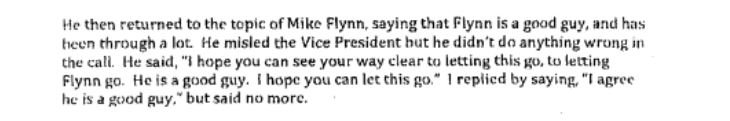 Comey relates how Trump pressed him on probe of Michael Flynn