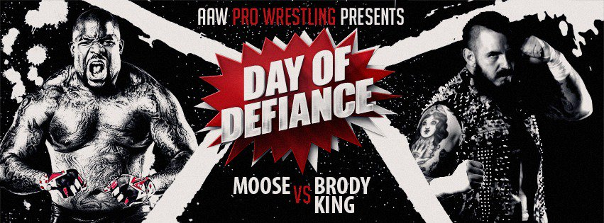 . @Brodyxking makes his AAW debut on 5/5 in LaSalle against @TheMooseNation  Get your tickets now at aawrestling.com