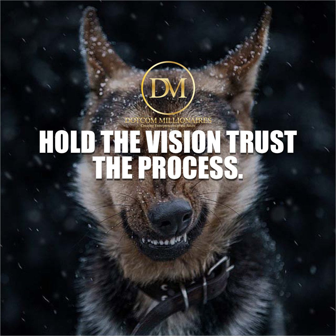 Hold the vision trust the process.  #DotcomMillionaires #aimhigh #biggoals #direction #bemotivated #beplanned #determination #goalcast #nevergiveup #positiveattitude #instagood #Money #patience #backpackmillionaire #makemoneyonline #Ambition #keys #Millionaire #Hustle<br>http://pic.twitter.com/NtDCjOWLcV