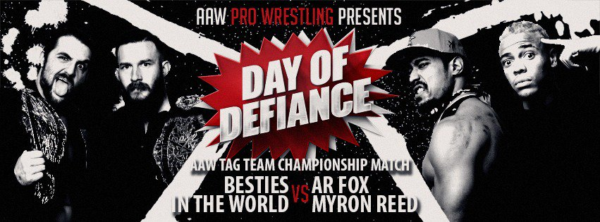 AAW Tag Team Championship Match on 5/5 in LaSalle @BestiesITW vs @ARealFoxx @TheBadReed  Get your tickets now at aawrestling.com