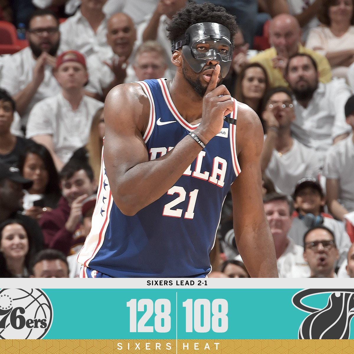 Embiid and the Sixers steal Game 3 in Miami.