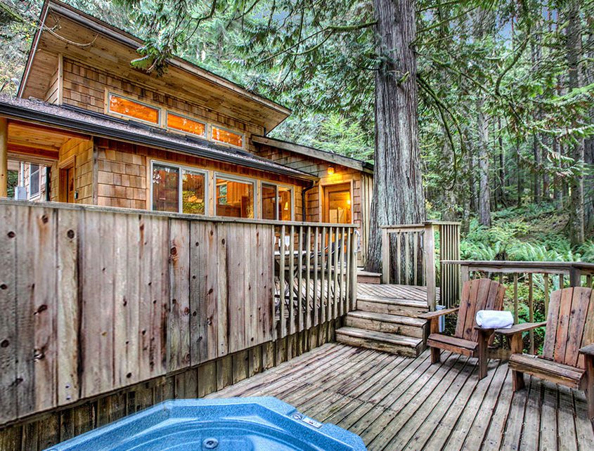 Visit Rainier On Twitter Deep Forest Cabins Is A
