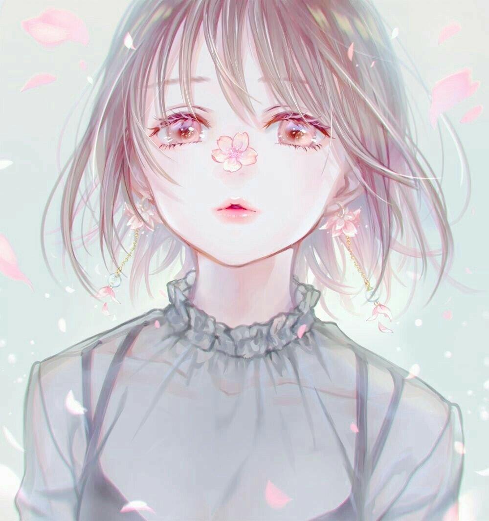 """Violett On Twitter: """"Sakura Girl 🌸 #anime #kawaii"""