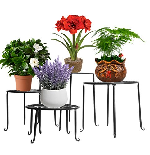 ISHN Metal 4 in 1 Potted #Plant Stand Floor #Flower Pot #Rack/Round Iron Plant Stands, Scroll Pattern (Black)   http:// ow.ly/Z6PC30jztRN  &nbsp;  <br>http://pic.twitter.com/v3GyBv5H35