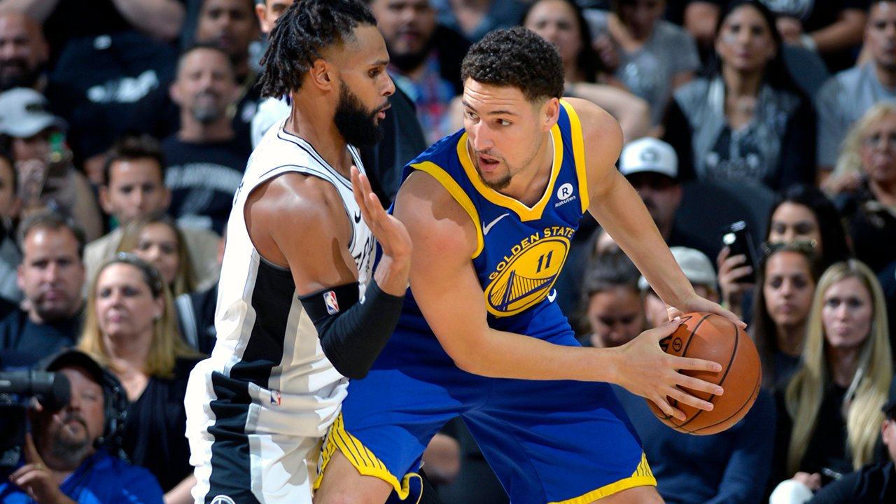 Second half coming up NEXT! #DubNation   �� #NBAPlayoffs R1G3 at @Spurs  �� @NBCSAuthentic & @NBAonTNT �� @957thegame https://t.co/WxVTpgowQR