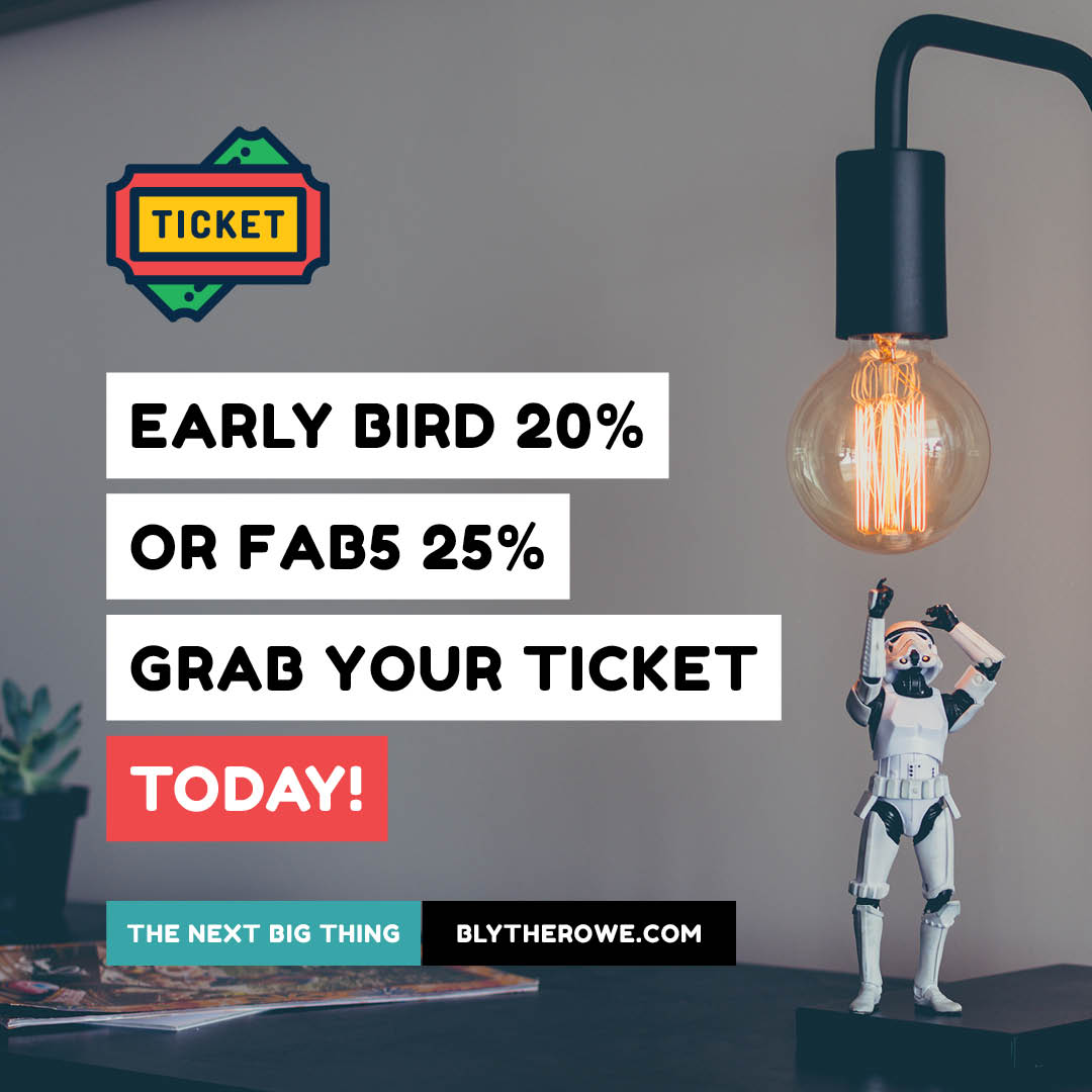 Check out #TheNextBigThing @BlytheRowe #special #EarlyBird 20% #FAB5 25% Offers Ends in 10 Days! Grab your ticket today! #sydney #melbourne #brisbane &gt;  http://www. blytherowe.com  &nbsp;   #massterclass #collaboration #innovation # ideas #future #trend #leadership #success #experience #event<br>http://pic.twitter.com/jUAnEdOgQU