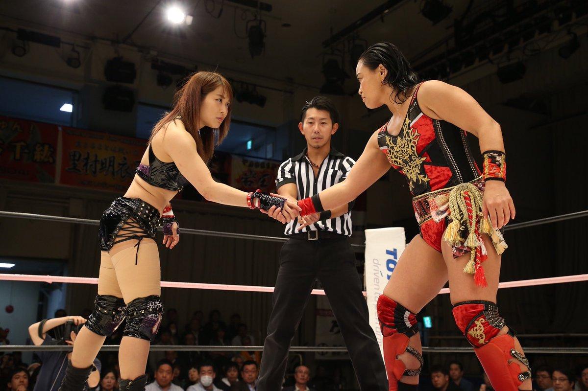 """Résultat de recherche d'images pour """"io shirai vs meiko satomura sendai girls"""""""