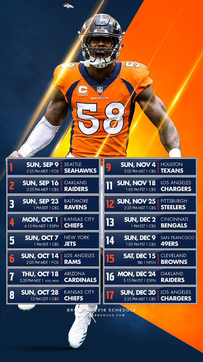 Denver broncos on twitter you need this in your life broncoscountry 📲 schedulerelease2018
