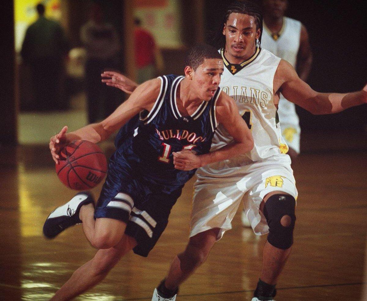(2003) J. Cole playing high school baske...