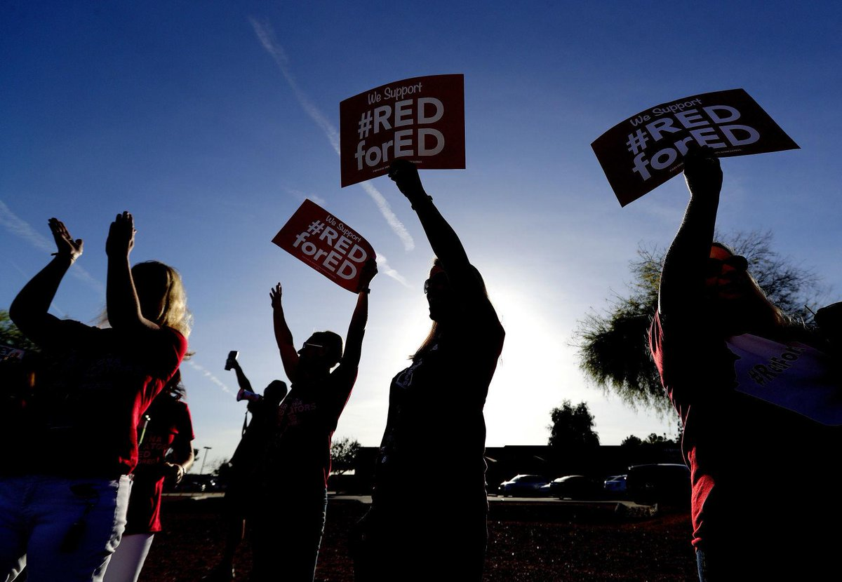 #RedForEd leaders say Arizona teachers voted to walk out, will do so next Thursday https://t.co/iLyDs9kvOw