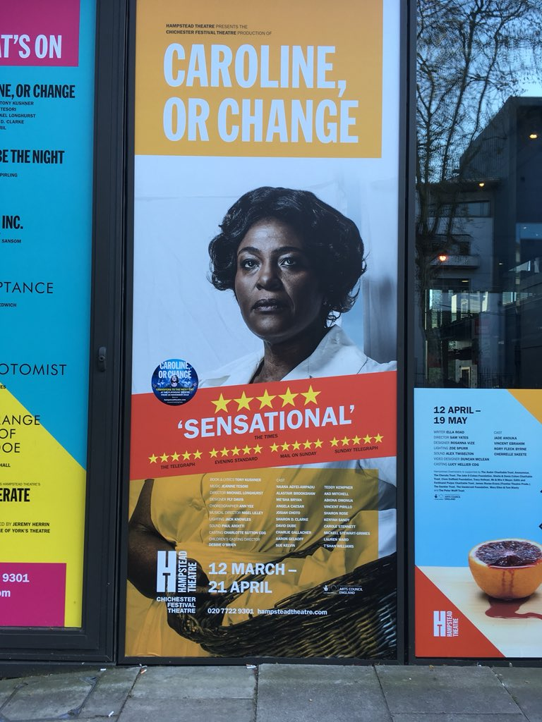 Sensational. Yes it is. The TALENT on that stage...@Hamps_Theatre #SharonDClarkeMBE