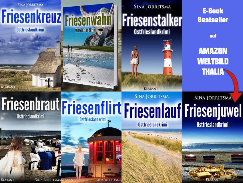 """#Buchtipp """"Friesenjuwel"""" von #SinaJorritsma Auf Amazon, Weltbild und Thalia steht das E-Book von """"Friesenjuwel"""" jeweils in den TOP 100 #Bestsellerlisten!  http://amzn.to/2oNsrUu http://bit.ly/2F6XKoh http://bit.ly/2FTLqEL #Ostfrieslandkrimi #Friesenjuwel #Borkum"""
