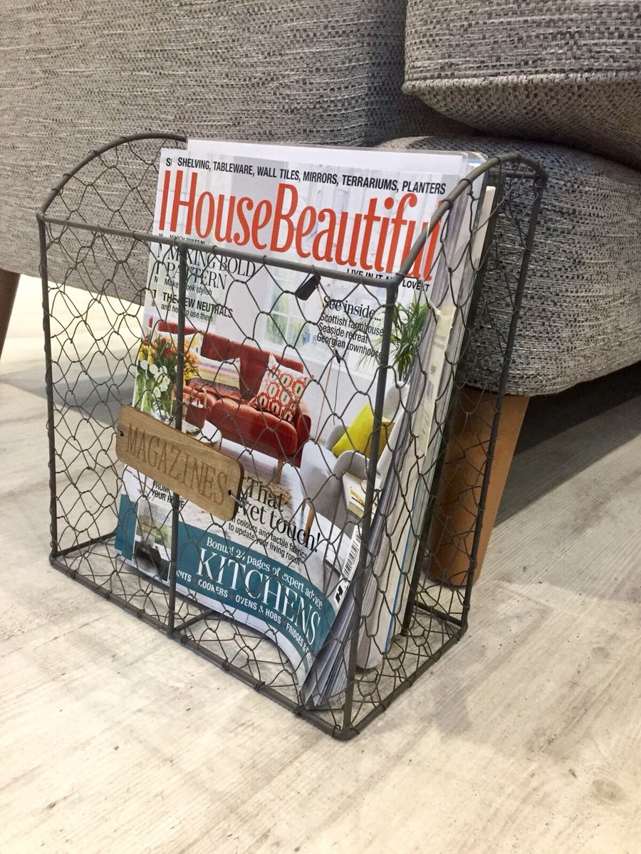 When your magazine collection gets too big, you might need a magazine rack to keep things organised. So we are giving away this one to a lucky #WINNER which will create easy access and maintain a clutter-free vibe. To enter #retweet and #follow T&amp;Cs apply ends 26/04 #competition<br>http://pic.twitter.com/BRhwrUgTXh