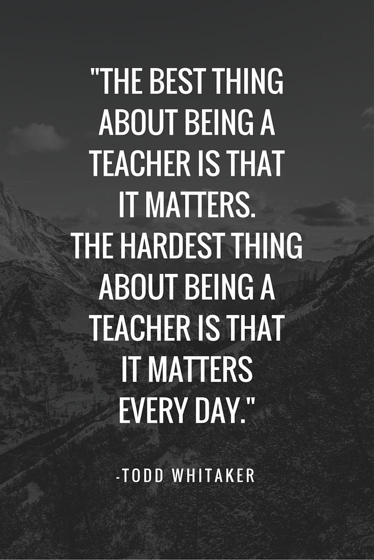 Your First year you will feel like you are drowning, the second like you're  treading water, and the third like you're learning to swim.  No matter how scared or overwhelmed you may feel, you are making a difference in the lives of children.  #bfc530 <br>http://pic.twitter.com/QoylYMSH5v