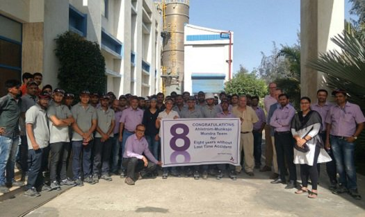 Safety is our mindset. Ahlstrom-Munksjö&#39;s plant in Mundra, India, achieved a remarkable milestone on April 16 with 8 years of operations without a Lost Time Accident. The plant has 95 employees and it produces high-performance fabrics for medical. #zeroaccidents #safety <br>http://pic.twitter.com/84M8EepfFv