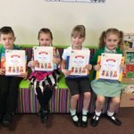 Congratulations to the lucky 100% attendance price winners who's name was pulled out of a hat and received a book #100%attendance 😄