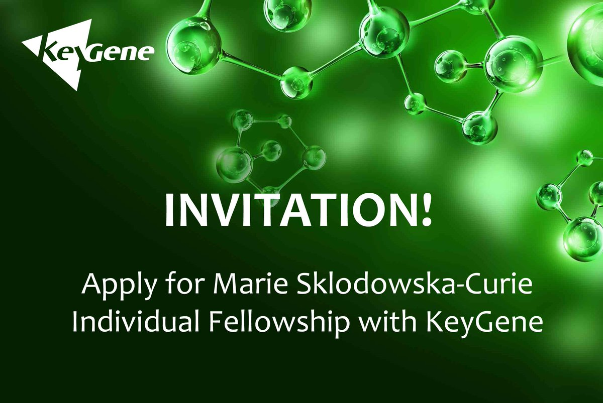 KeyGene invites POSTDOCTORAL RESEARCHERS / RESEARCH SCIENTISTS to apply jointly with KeyGene for the EC Marie Sklodowska-Curie 2018 Individual Fellowship. Sharing is highly appreciated! #H2020 #postdoc #vacancy  http://www. keygene.com/marie-sklodows ka-curie-if-call/ &nbsp; … <br>http://pic.twitter.com/yHqGX2kdup