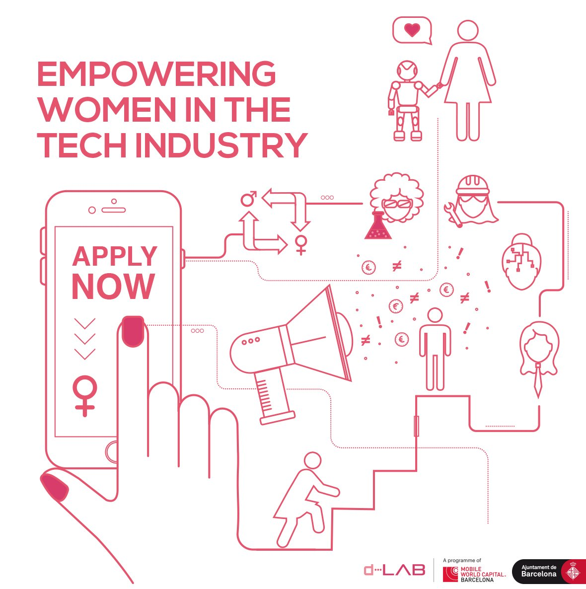 How to reduce the gender gap across the #tech industry? Any ideas? Share:  http://www. d-lab.tech/women-in-tech  &nbsp;   #MWCapital #womenintech <br>http://pic.twitter.com/X3KqOqfNxt