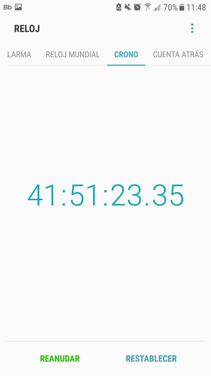 hace casi 42h que puse el cronometro y s...