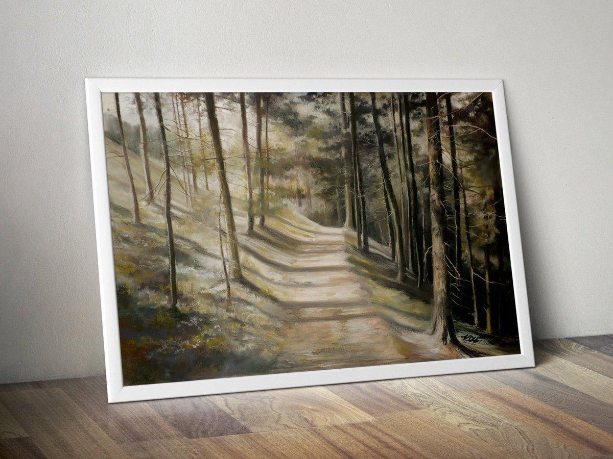 forest path PRINT pastel landscape by Katarzyna Kmiecik / giclee print, forest drawing, realistic landscape, soft pastels, landscape print  https:// etsy.me/2rA5vsE  &nbsp;   #artprint #etsyshop #etsyseller #Etsy #print #artprints #artonetsy #prints #PastelLandscape<br>http://pic.twitter.com/TzNRk5p1eM