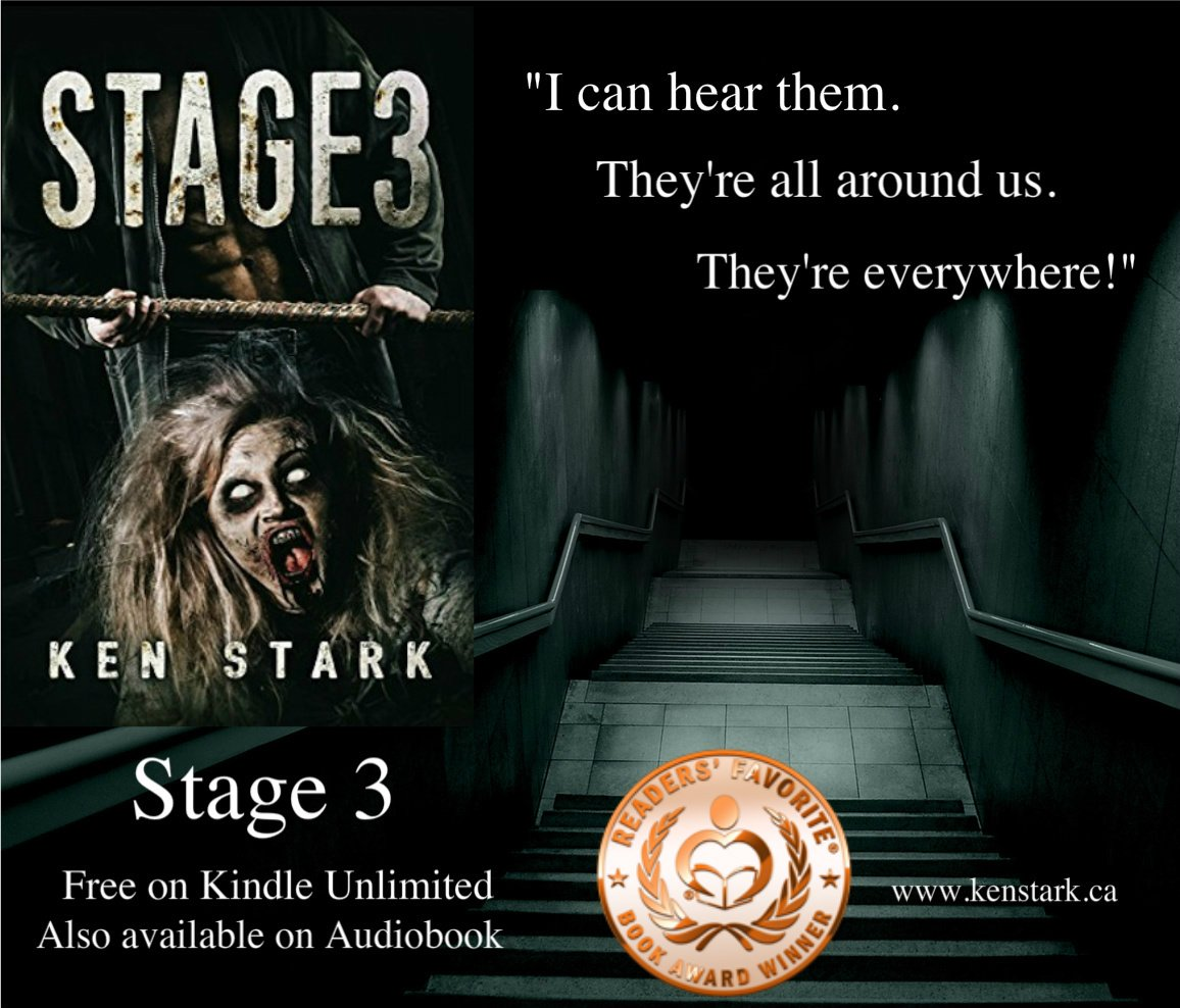 The lights flickered once and died, and the darkness swallowed them whole.   http:// amazon.com/dp/B01CYITYOS  &nbsp;    #horror #amwriting #zombie #apocalypse #thriller #survival #series #ReadersFavorite Read #Stage3 for #FREE w/ #KindleUnlimited<br>http://pic.twitter.com/GUPBNxEdab