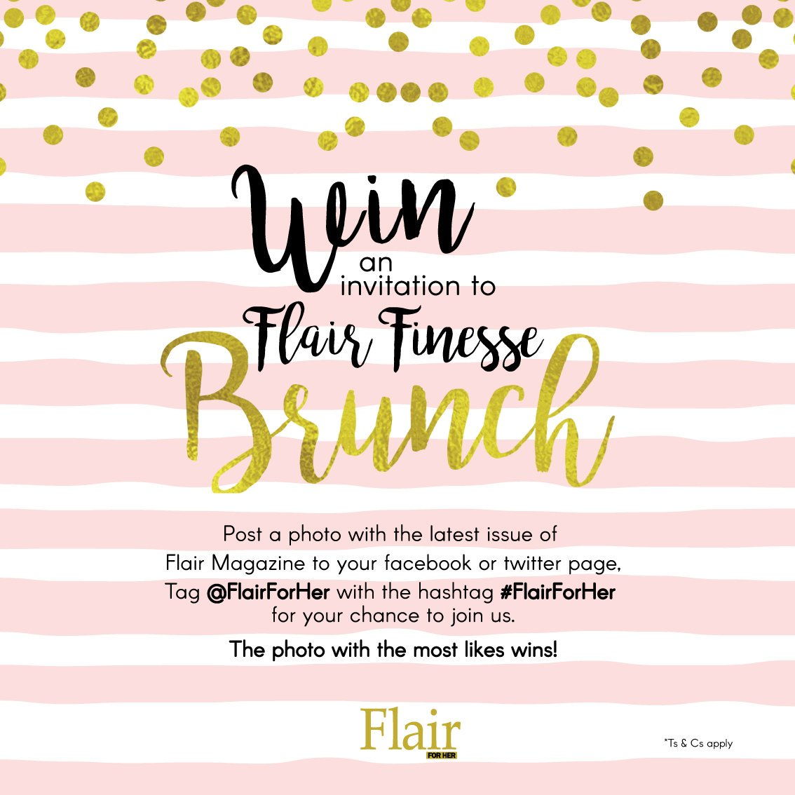 Post your pic and win an invite to the #FlairForHer Finesse Brunch! #ForHer #ForYou <br>http://pic.twitter.com/NsIebVtboI