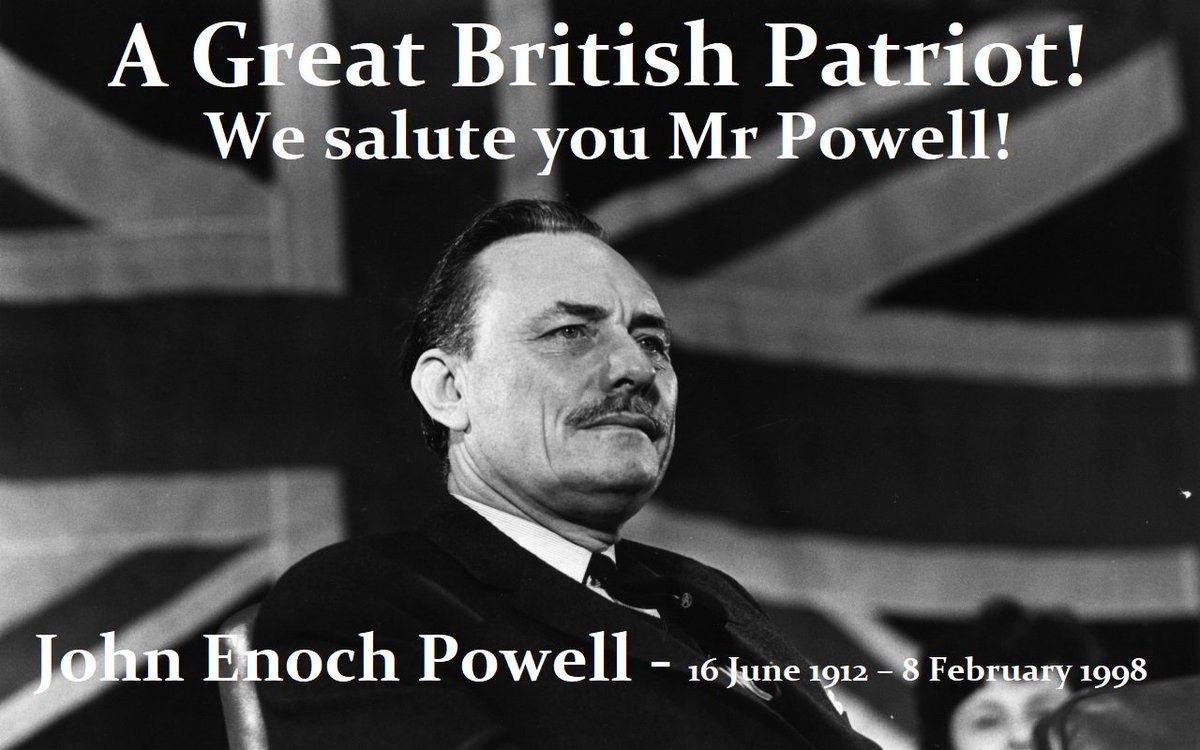 John #EnochPowell MBE - 16 June 1912 – 8 February 1998 - One of the last Great #British #politicians, a #Tory, #Unionist, #Brexiter, #Patriot, #Soldier, #Classical Scholar, #Philologist &amp; #Poet! God Bless You! #BBC #SKY @LBC #LBC @ConHome @Conservatives #ConservativeParty #Tories<br>http://pic.twitter.com/vcH3N4InHV