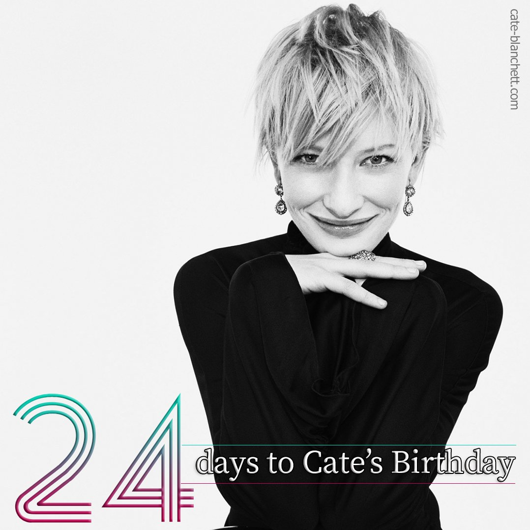 The #Countdown continues!  24 days!  #CateBlanchett #Birthday  #Actress #Movies <br>http://pic.twitter.com/9ZYCv3YqUW