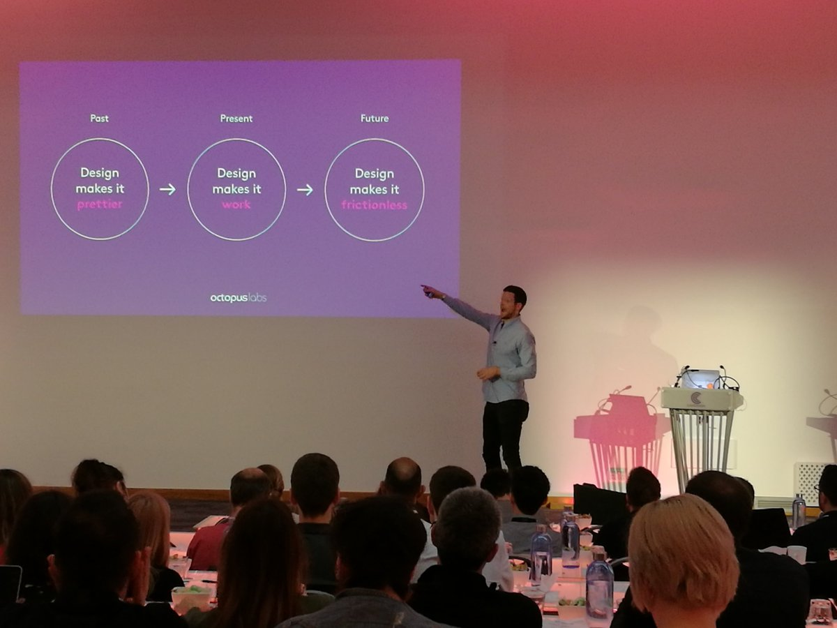 Sam Handfield-Jones, Director at @octopuslabs, is discussing the role of #Design within #businessStrategy at #FDS2018<br>http://pic.twitter.com/ym6jTMOh1v