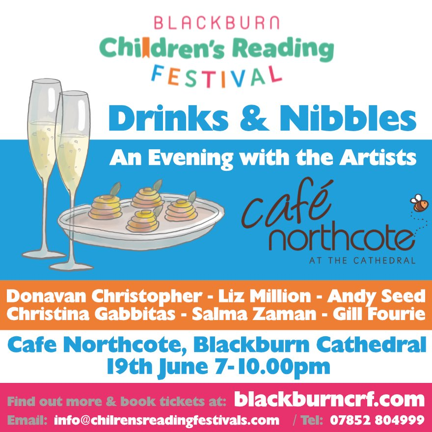 An evening with the #artists. Our #authors #illustrators and #poets will be performing an excerpt of what the children will experience at this wonderful FREE children&#39;s #literature festival @CafeNorthcote @bbcathedral #Blackburn funds raised will go towards supplying #books<br>http://pic.twitter.com/4OAik5dOw4