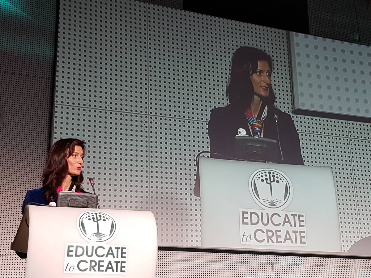 Commissioner @GabrielMariya proud of the 1.2 million #Codeweek participants in 2017. Appeals to all to join forces to cover at least 50% of schools by 2020. #EducatetoCreate #Digitalskills #Codeeu @DSMeu #creativity <br>http://pic.twitter.com/9Ztf6NFjqc