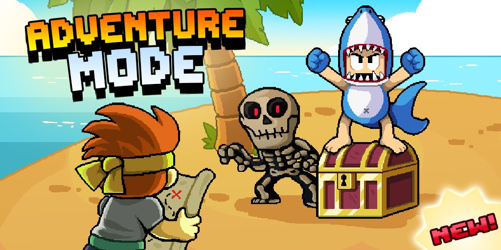 Do you have what it takes?!  Adventure Mode has arrived in Dan the Man!  Test your skill across multiple islands, win prizes and prove you're the ultimate fighter!  https://t.co/I1TuJVkrXY https://t.co/3kSvMfIkKQ