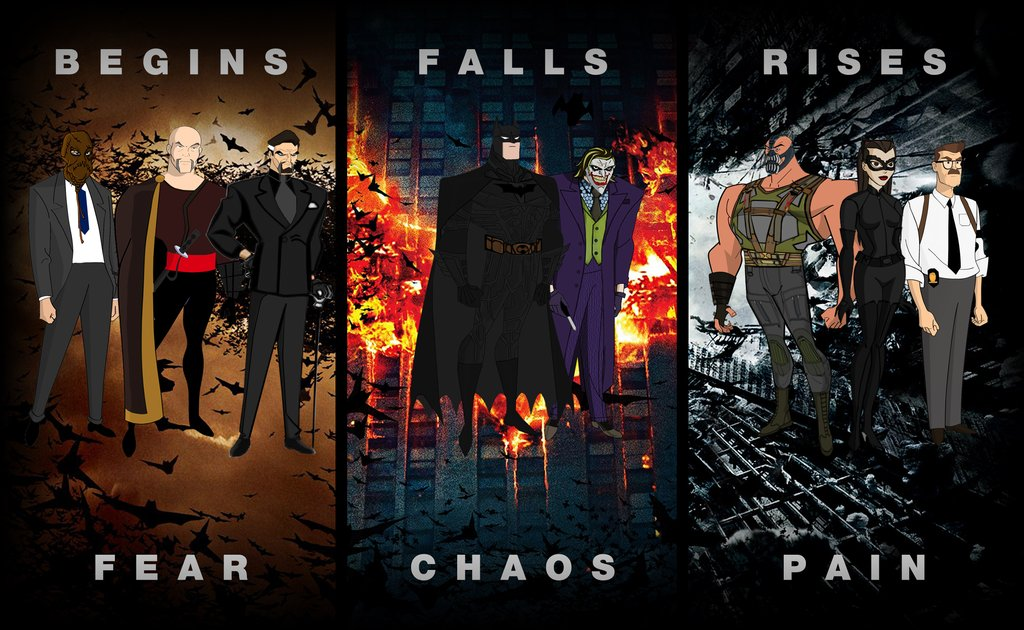 Would you watch this animated series? The Dark Knight Trilogy Animated (by DeviantART user Alexbadass) #Batman #animated #dccomics<br>http://pic.twitter.com/EcGSgInQos