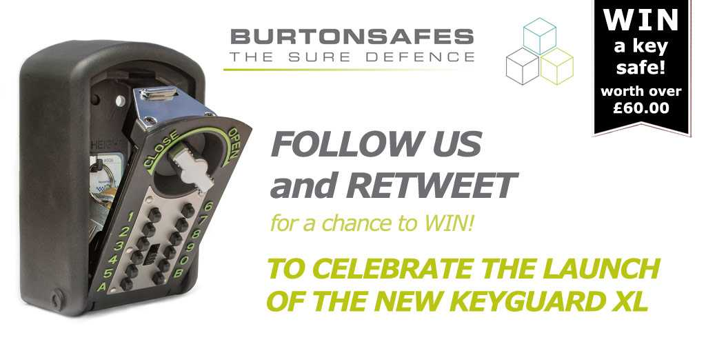 There is still time to enter our #competition to #win a Burton Safes Keyguard XL #RT and #Follow to enter - #Winner announced on Monday! #goodluck #prize #freebie #comp #giveaway #freebiefriday #FridayFeeling #free #FridayMotivation #keyguardXL<br>http://pic.twitter.com/CwZnk9jFmO