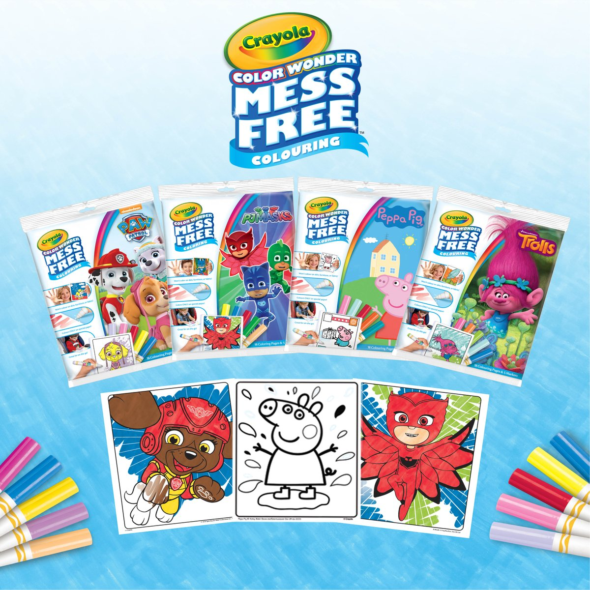#Win a #Crayola Color Wonder Bundle worth £28  Enter DAILY   http:// ow.ly/P2Y230jpAn6  &nbsp;    @Crayola #Pawpatrol #PeppaPig #PJMasks #Trolls #colouring #colour #creative #art #kids #activity #prizedraw #giveaway #competition #dailyclicktowin<br>http://pic.twitter.com/Fxt1jA2hHS