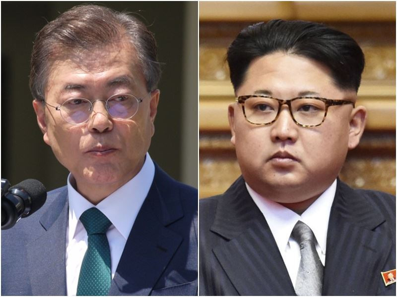 South Korea and DPRK on Friday opened a direct hotline between South Korean President Moon Jae-in and DPRK leader Kim Jong-un, who are set to meet in person next week: Yonhap